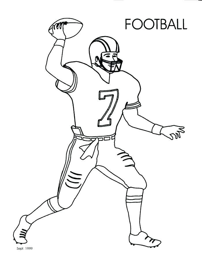 700x906 How To Draw A Football Player Packed With Sports Series Sketchy