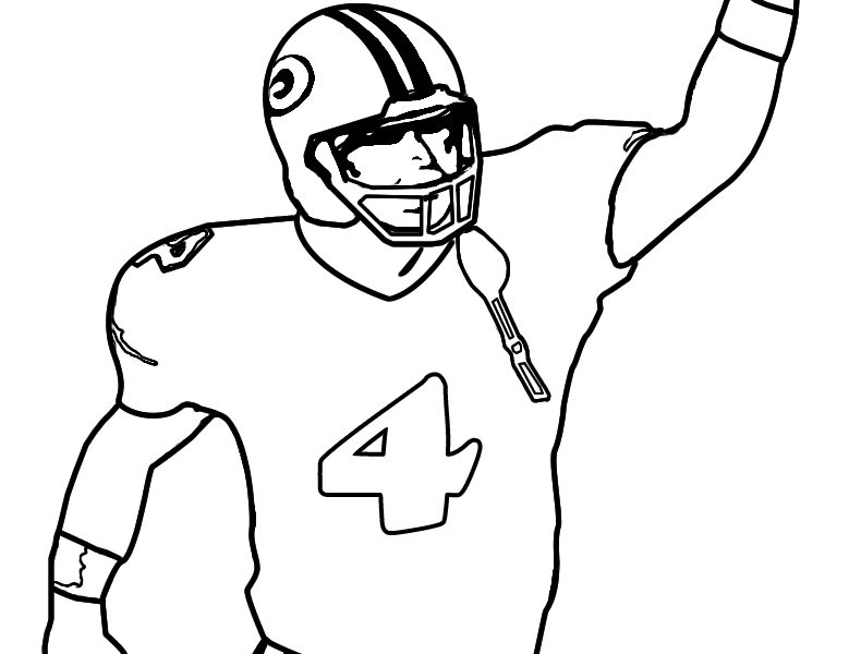779x600 Strikingly How To Draw A Football Player Drawing Of Free Download