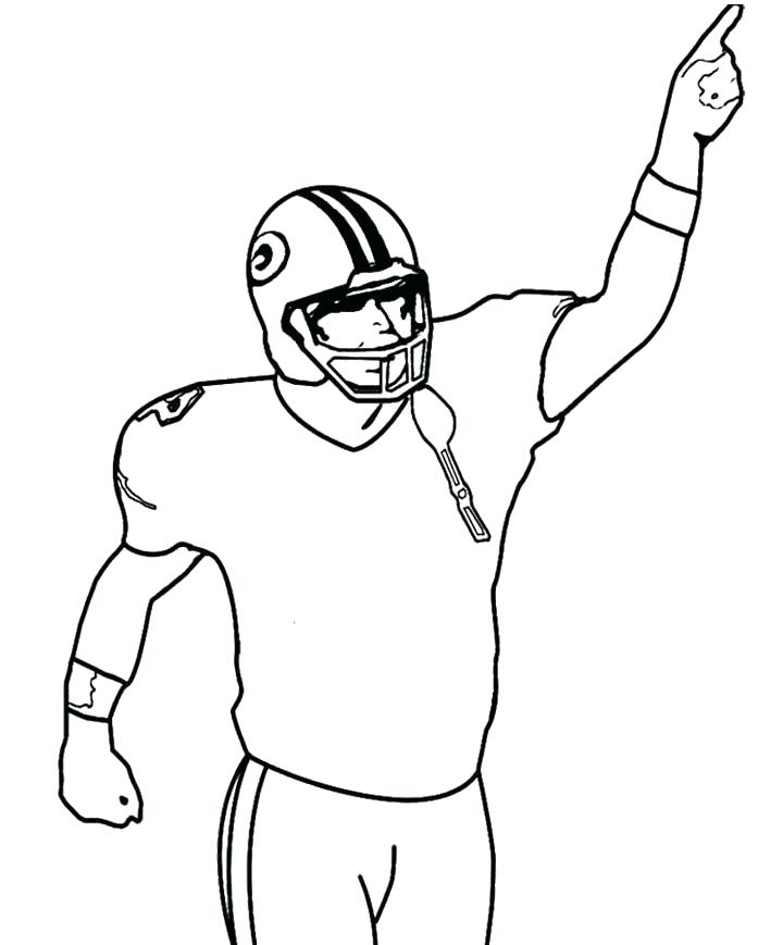 720x869 How To Draw A Football Player