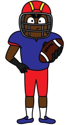 236x419 American Football Player Sketch