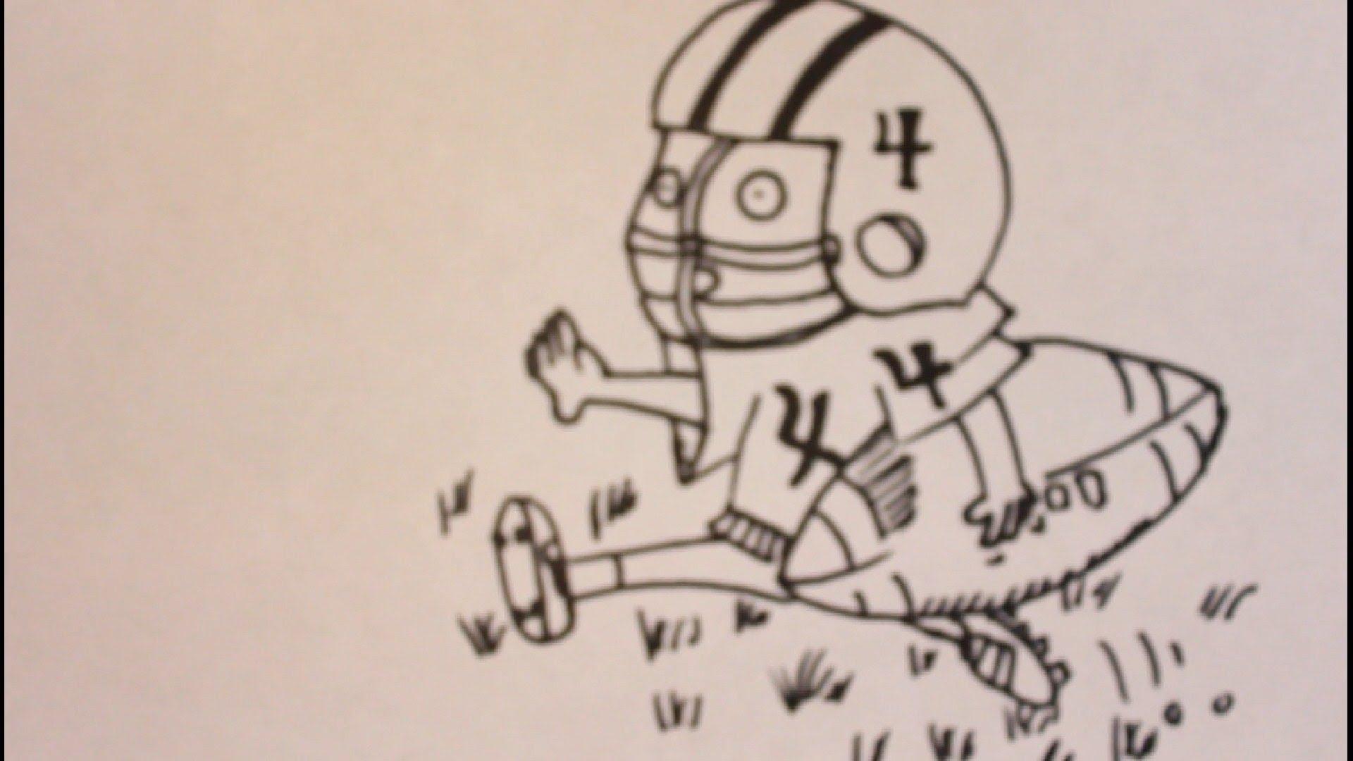 1920x1080 How To Draw Cartoon Football Players How To Draw A Cartoon