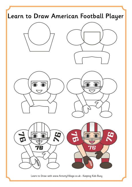 460x650 Learn To Draw An American Football Player Drawing