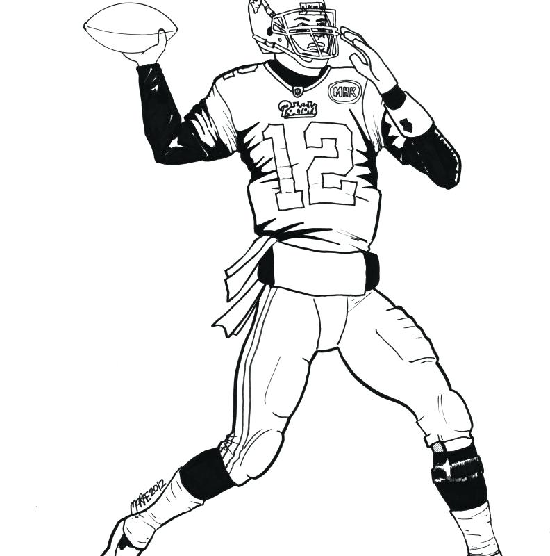 792x800 Football Player Coloring Page Football Player Drawing Playing