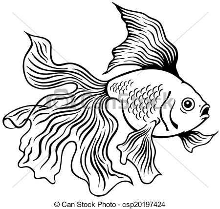 450x428 Collection Of Goldfish Line Drawing High Quality, Free