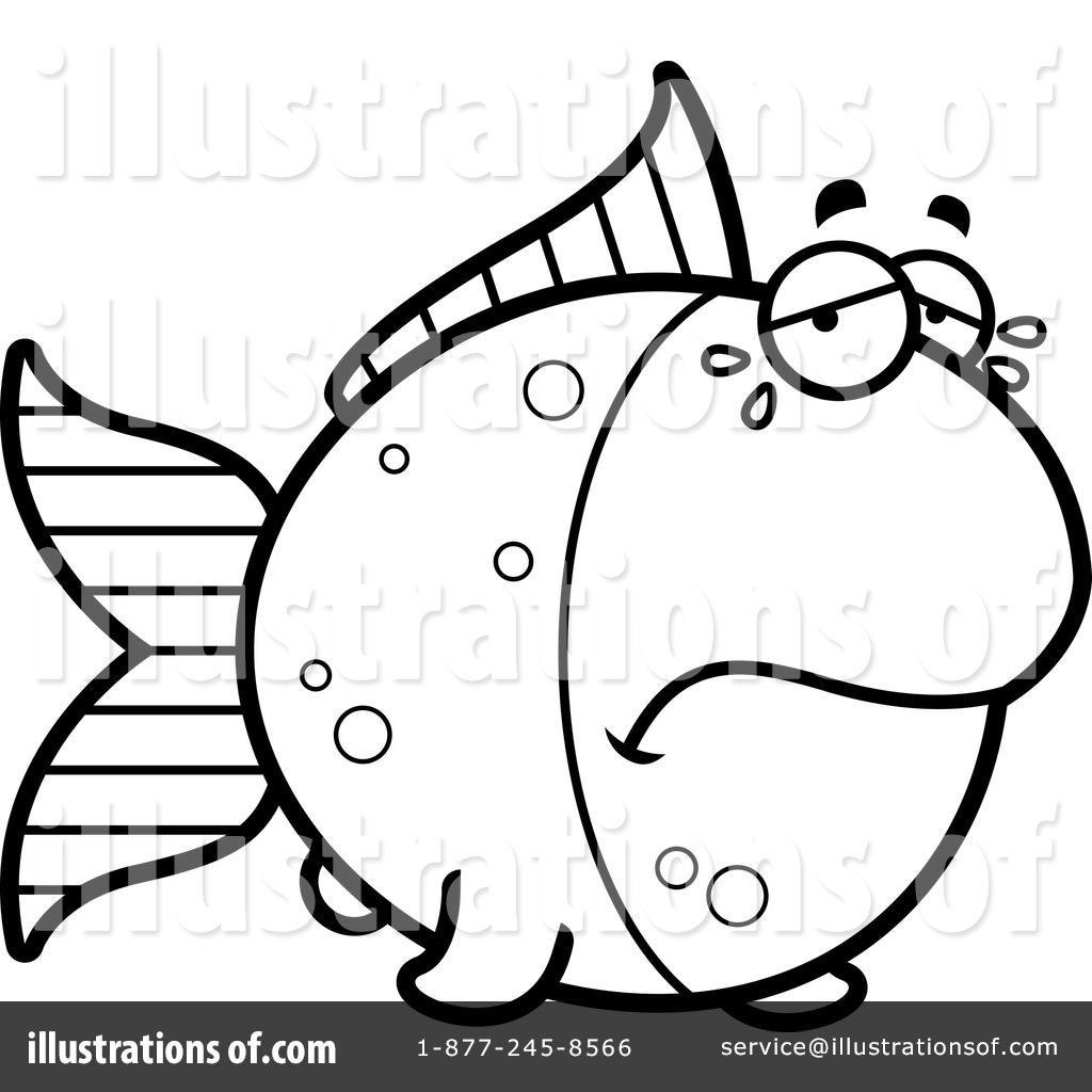 1024x1024 Goldfish Clipart Line Art