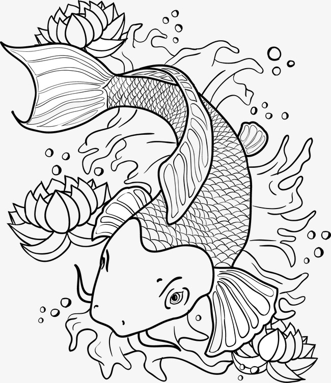650x753 Vector Painted Goldfish, Vector, Hand Painted, Cartoon Png