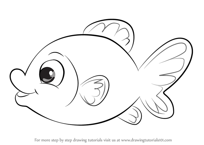 800x567 Collection Of Easy Goldfish Drawing High Quality, Free