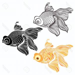 300x300 Force On A Goldfish Vector Drawing Shopatcloth
