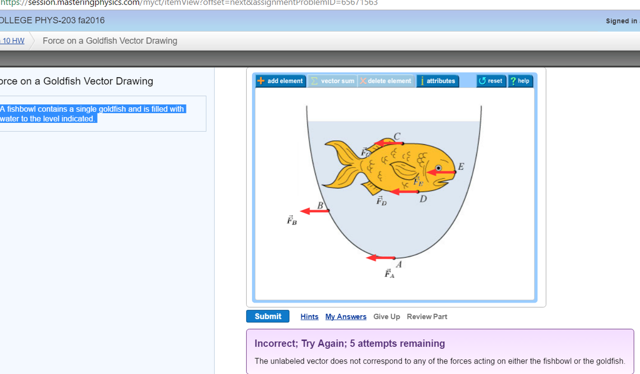 2046x1195 Solved A Fishbowl Contains A Single Goldfish And Is Fille