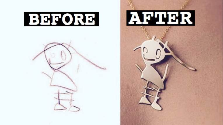 764x430 Kids' Drawings Are Being Turned Into Beautiful Jewelry Parents Can