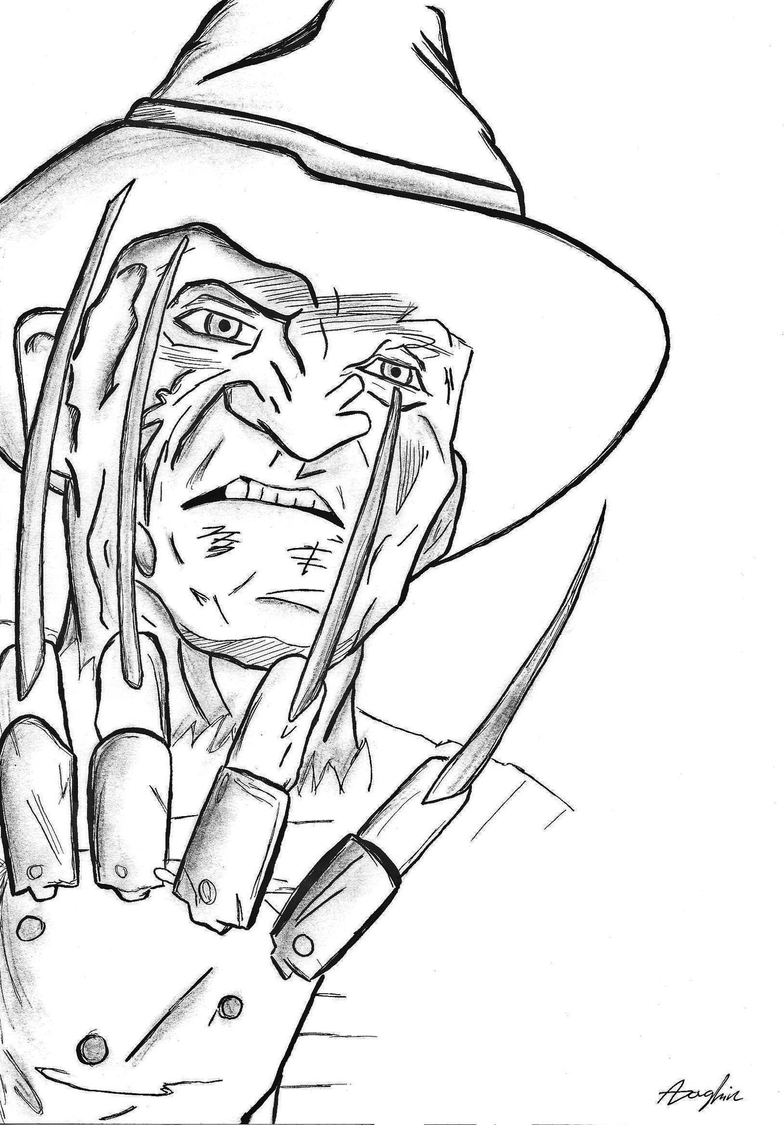 Freddy Krueger Glove Drawing