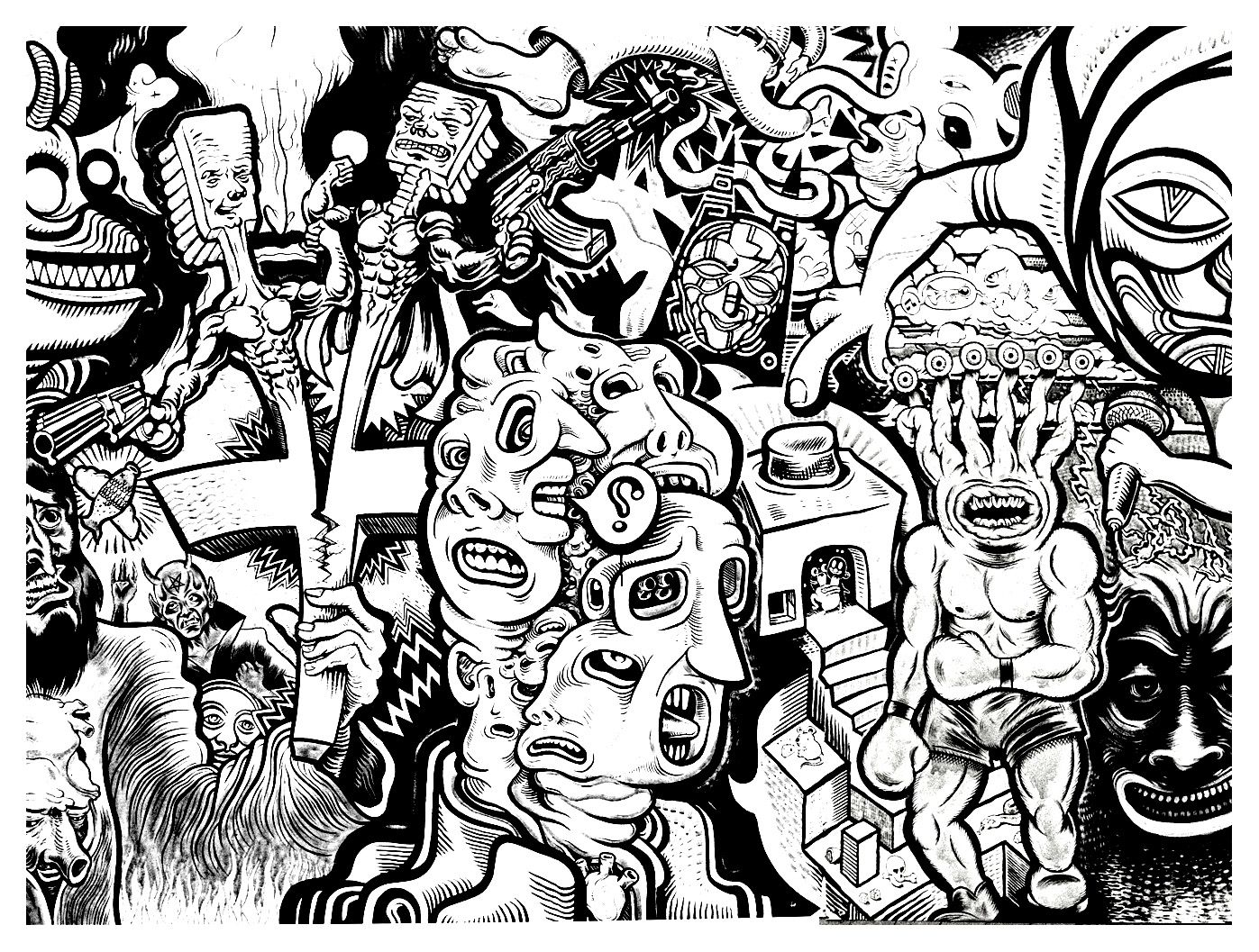 1397x1057 To Print This Free Coloring Page Adult Fresco Tags 2