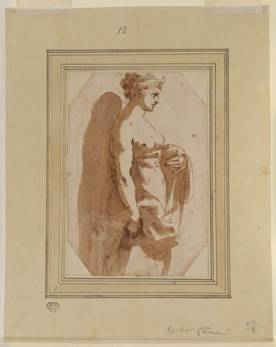 557x700 Juno (Study For The Fresco In The Farnese Palace, Rome), Drawing
