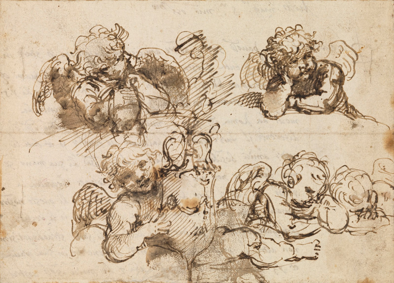 1600x1151 Spencer Alley Preparatory Drawings For Fresco Painting