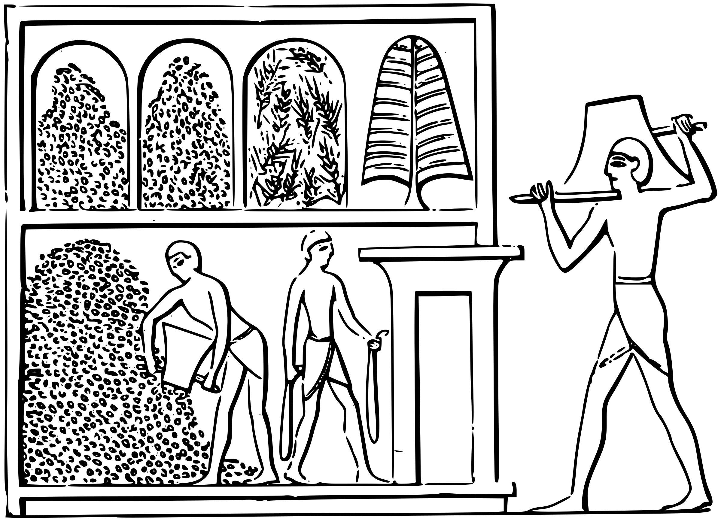 2400x1738 Egyptian Fresco 2 Icons Png