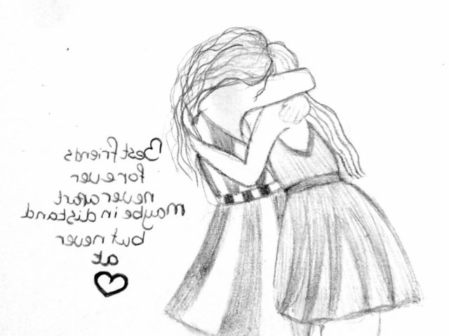 640x480 Friendship Sketches Pencil Sketch Of Boy And Girl Friendship