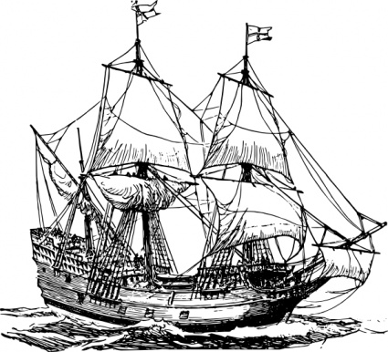 425x386 Free Download Of Frigate Ship Clip Art Vector Graphic