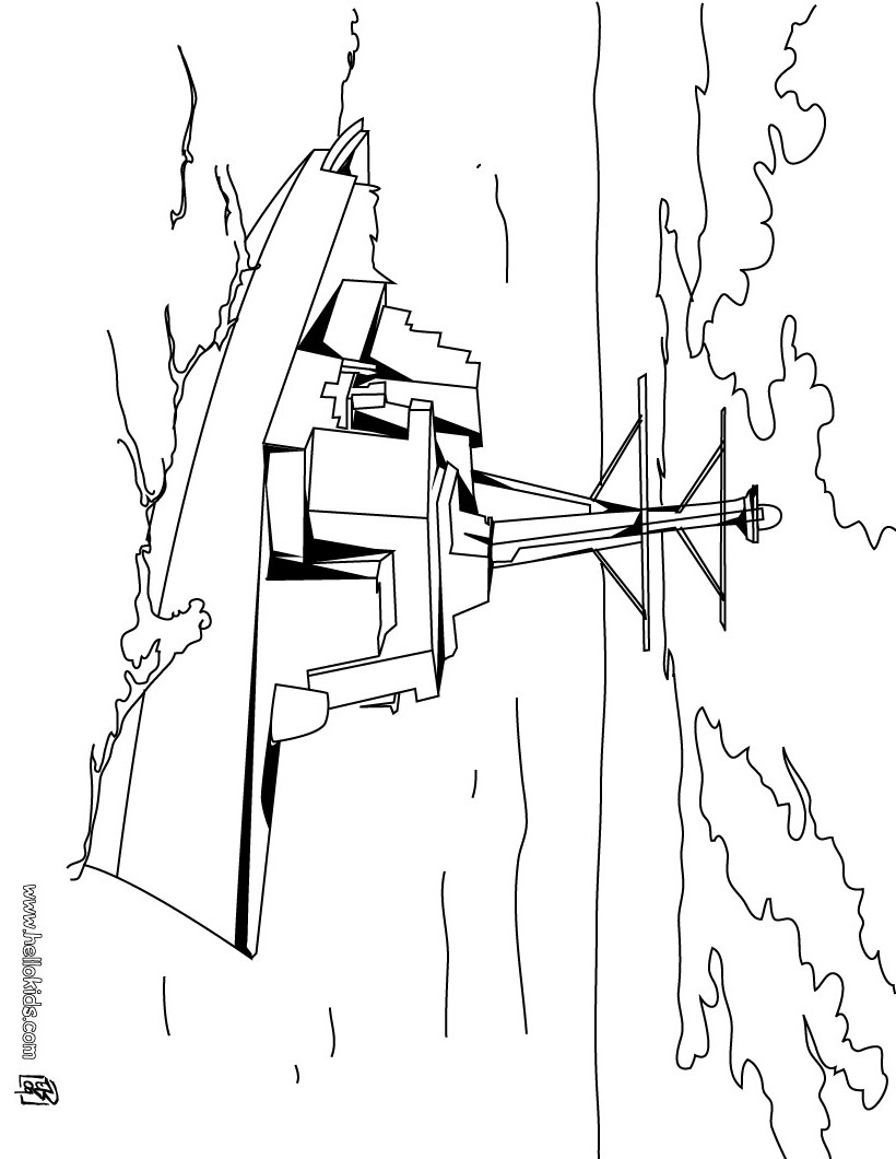 820x1060 Frigate Coloring Pages