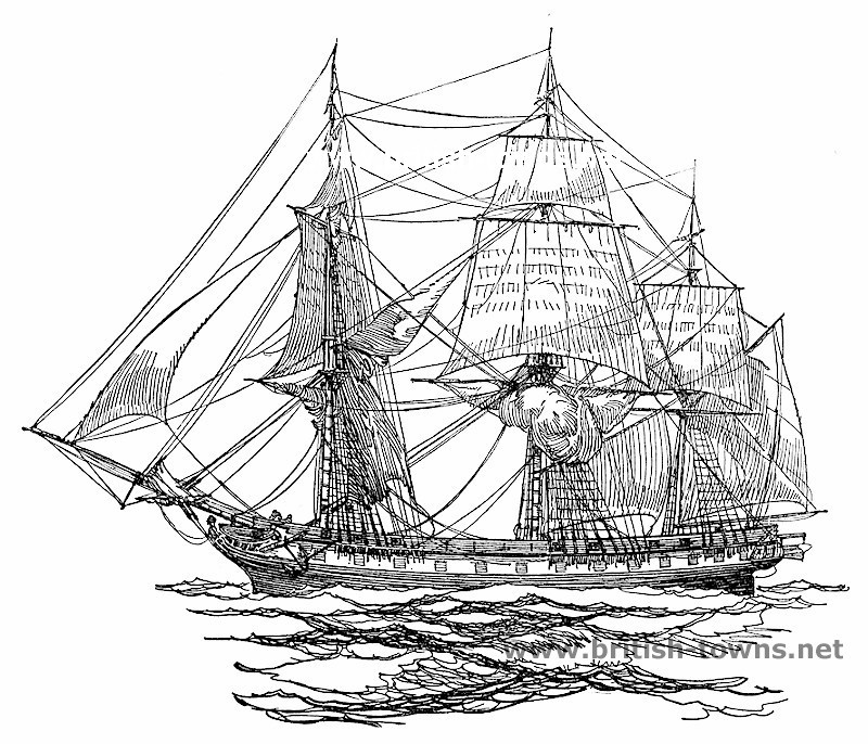 800x686 Frigate Of The 1820'S