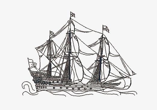 521x364 Tg982 Sailing Frigate Spinning Jenny