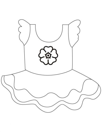 420x542 Short Frock Coloring Pages Download Free Short Frock Coloring
