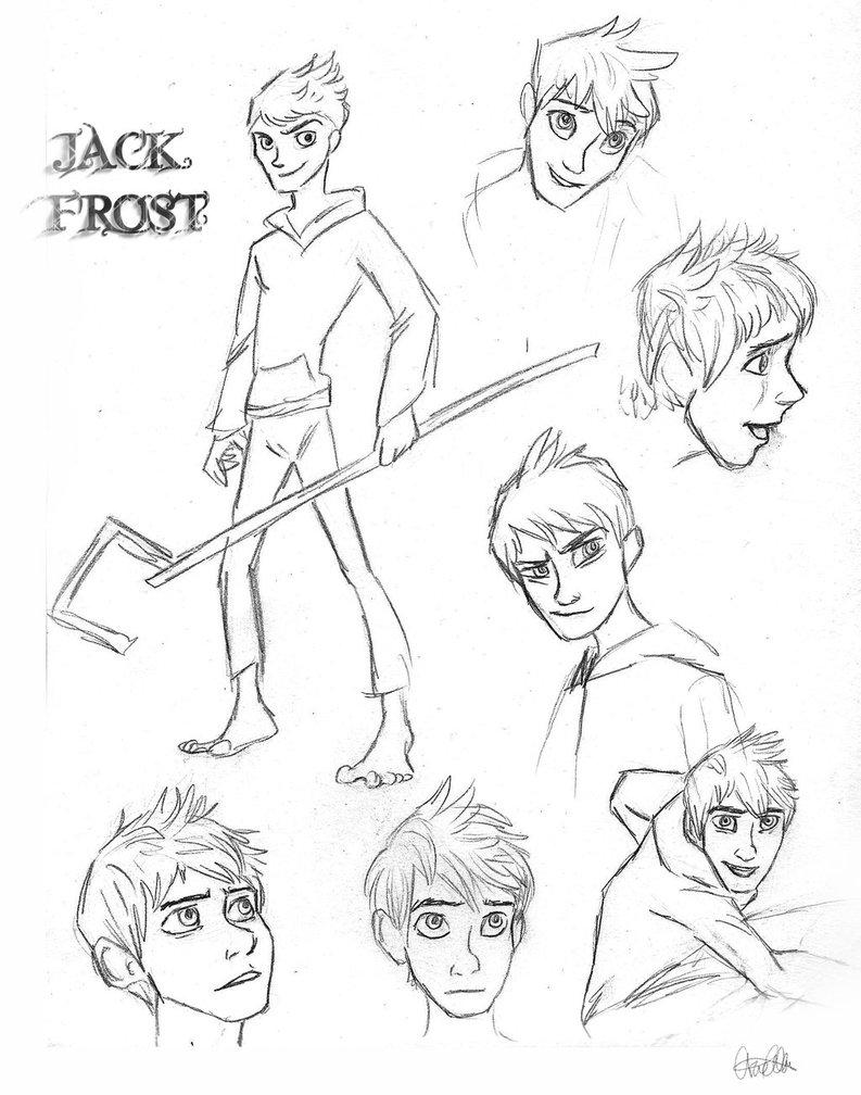 793x1008 Jack Frost Sketch Dump By Ariellamay