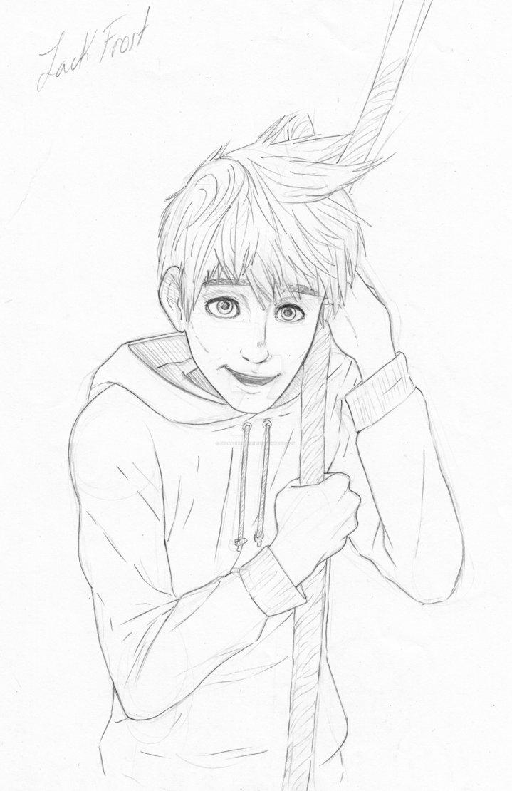 719x1110 Jack Frost Sketch By Dianadeendeen