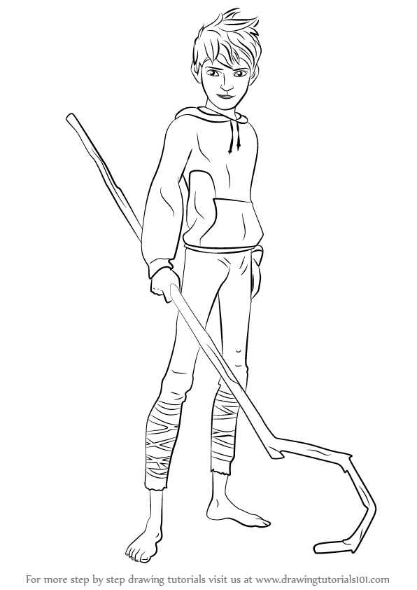 596x842 Learn How To Draw Jack Frost From Rise The Guardians (Rise
