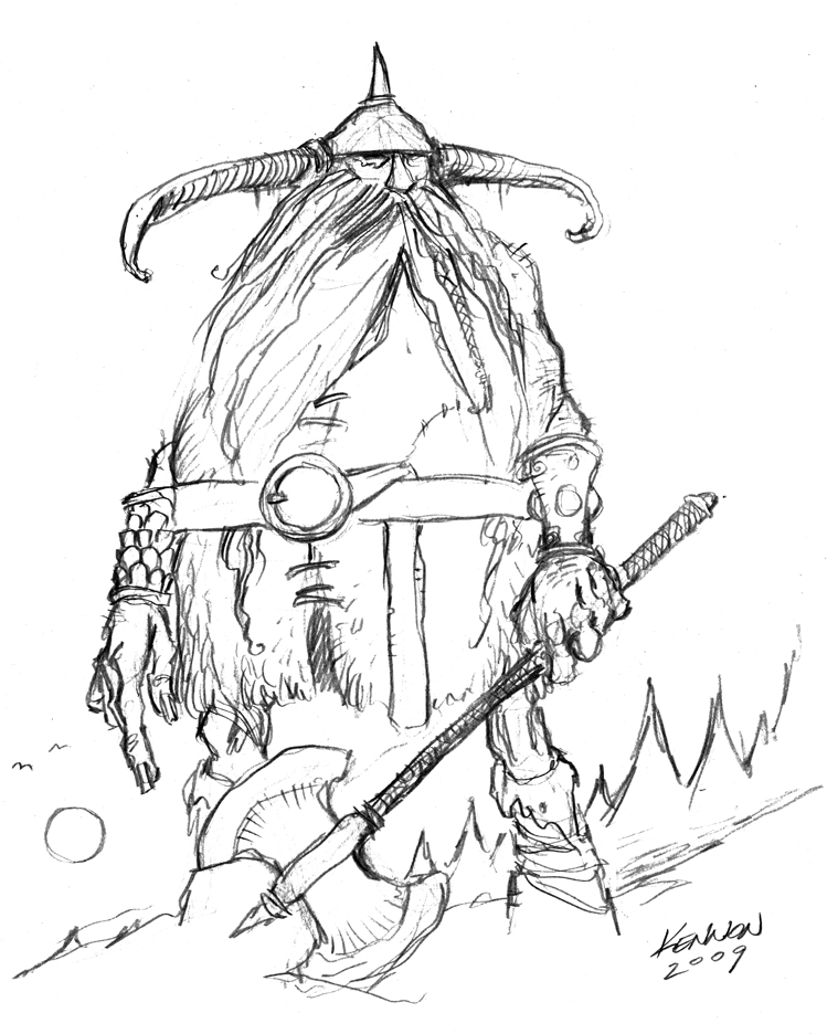 749x936 Frost Giant Sketch By Kennon9