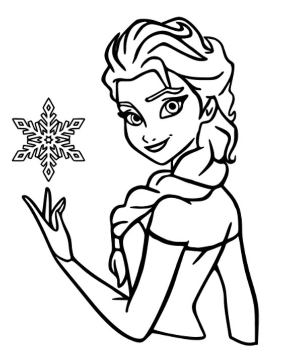 Frozen Outline Drawing