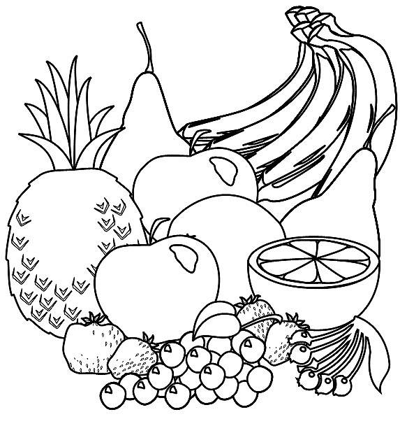 573x609 51 Best Fruit Kleurplaten Images On Coloring Pages