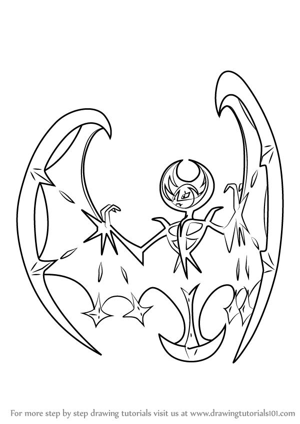600x846 Learn How To Draw Lunala From Pokemon Sun And Moon Sun