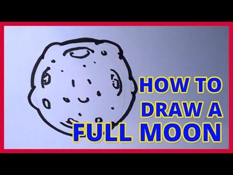 480x360 How To Draw A Cartoon Full Moon