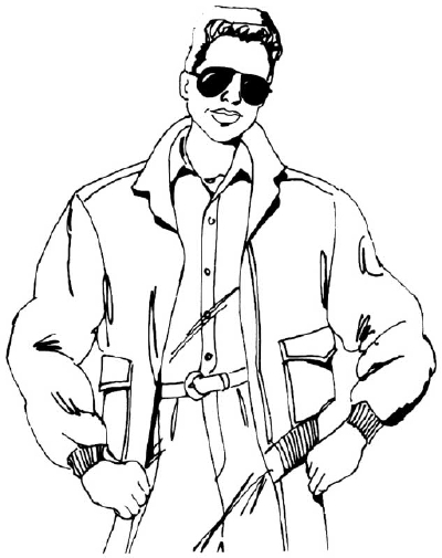400x505 Drawn Coat Bomber Jacket