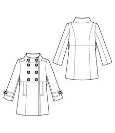 236x274 Menswear Trench Coat Flat Spec Sketches Technical Fashion Drawing