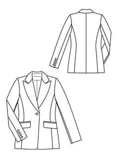 236x314 Women's Parka Coat Fashion Flat Template Fashion