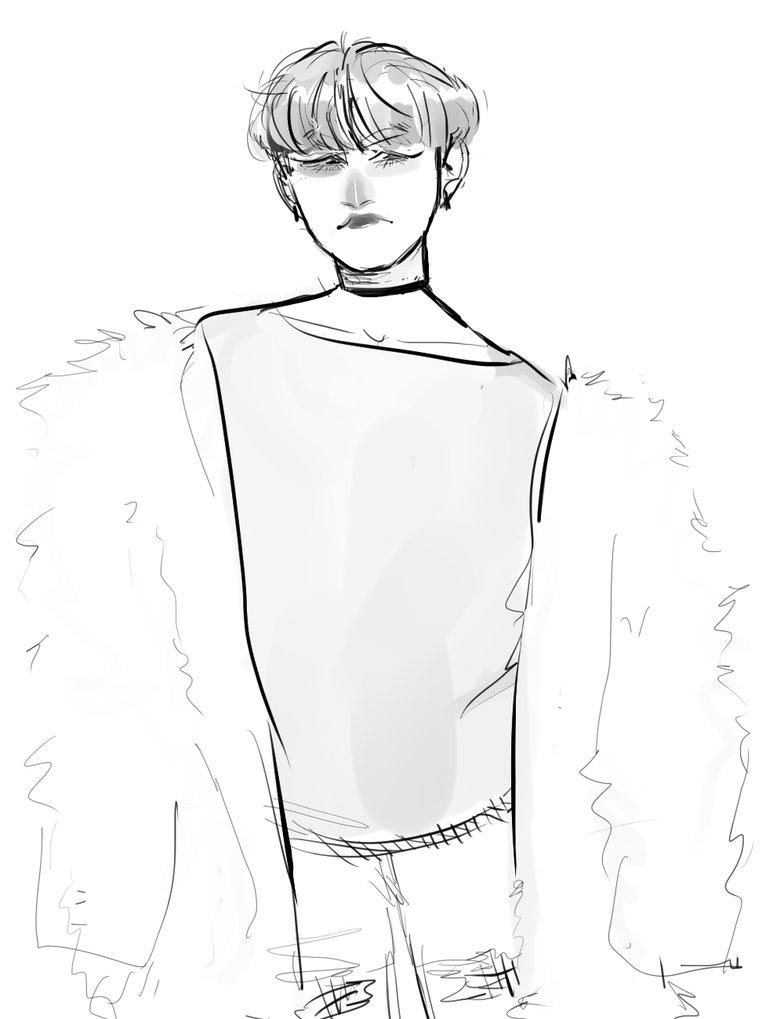 784x1019 Fur Coat Yoongi By Qoys