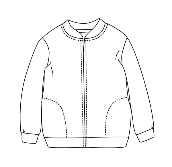 600x584 Collection Of Bomber Jacket Technical Drawing High Quality
