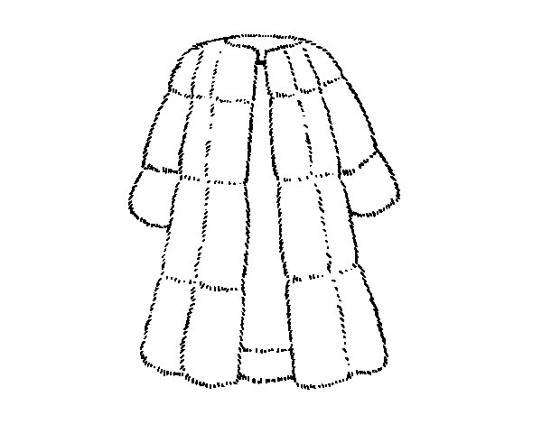 600x470 Collection Of Fur Coat Technical Drawing High Quality, Free
