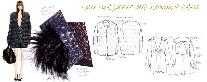880x350 Collection Of Fur Coat Technical Drawing High Quality, Free