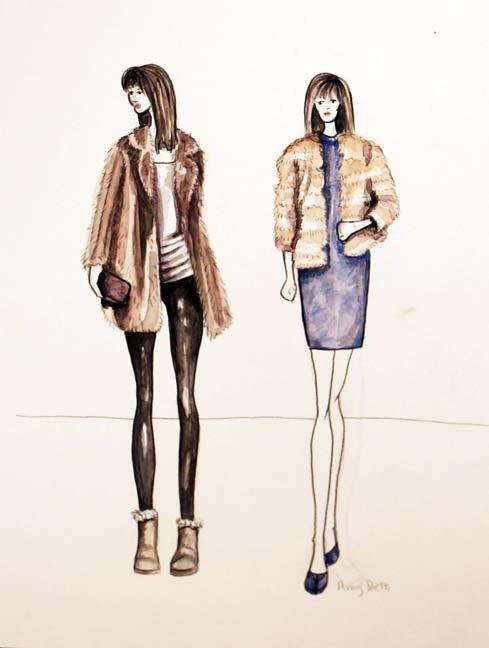 489x648 Items Similar To Fashion Art Illustration Of Women Wearing Vintage