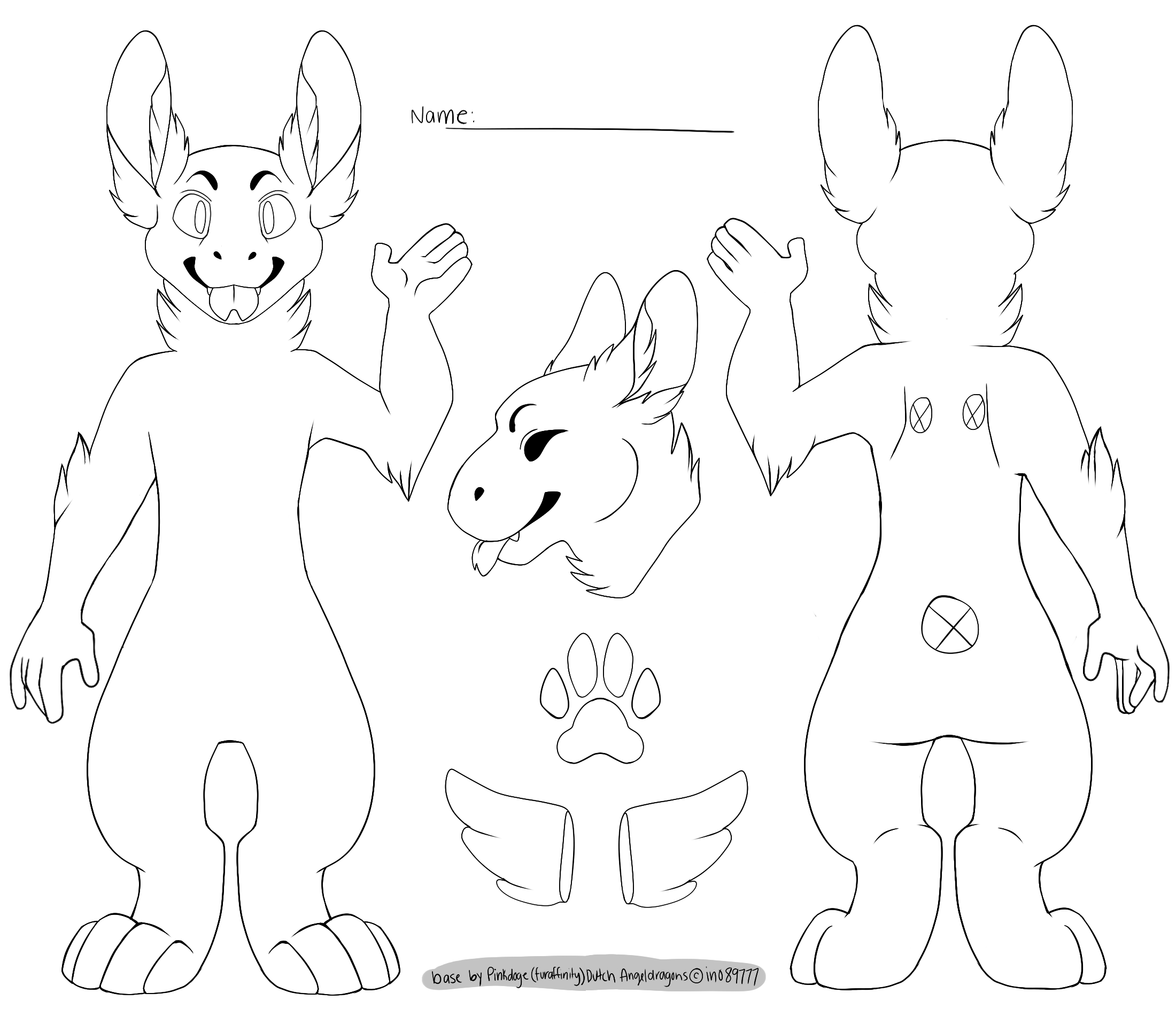 Fursuit Drawing Base At Getdrawings Com