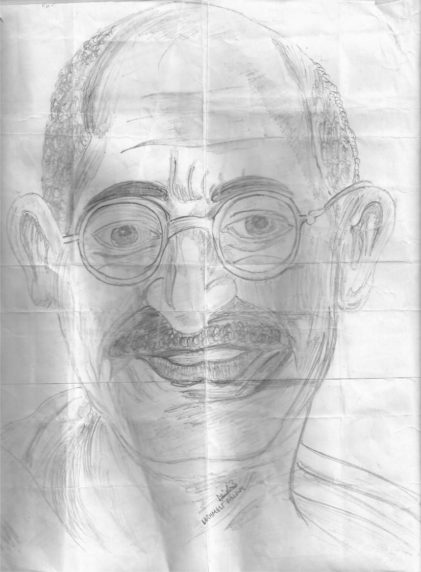 825x1121 Mohan Das Karam Chand Gandhi On A4 Sheet