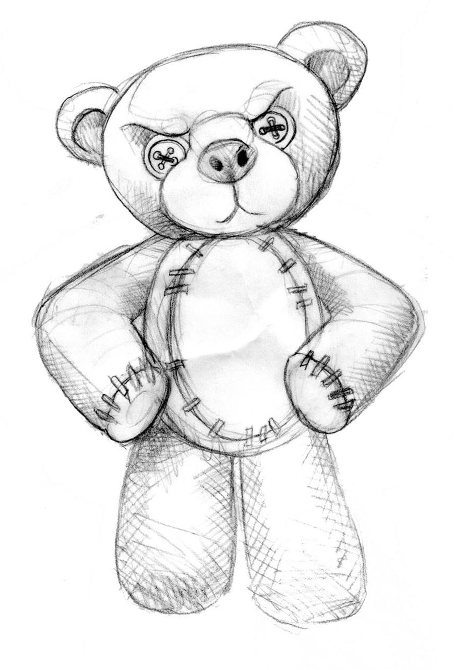 Gangsta Teddy Bear Drawing
