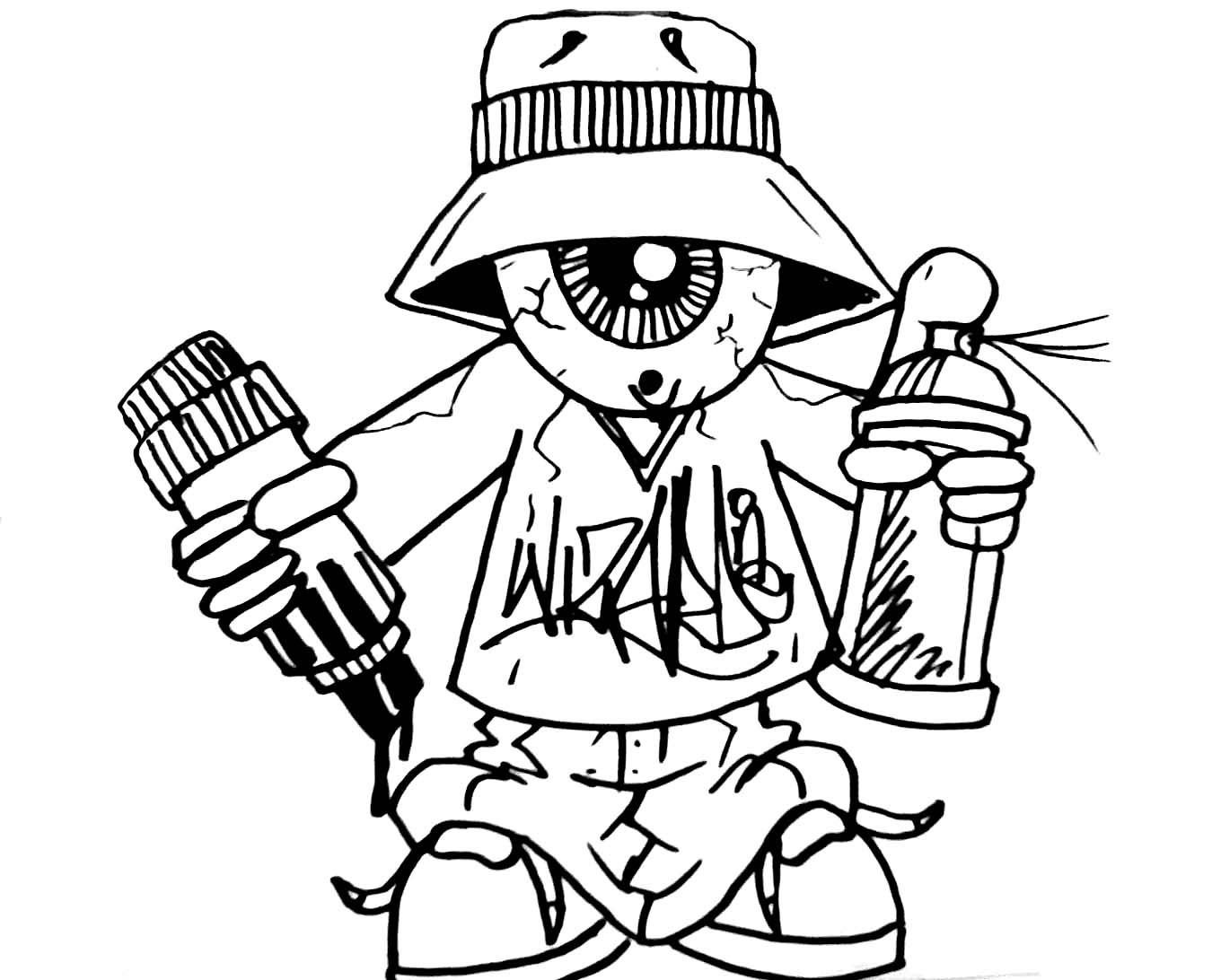 1350x1092 How To Draw Gangster Stewie Draw Gangster Tweety, Stepstep