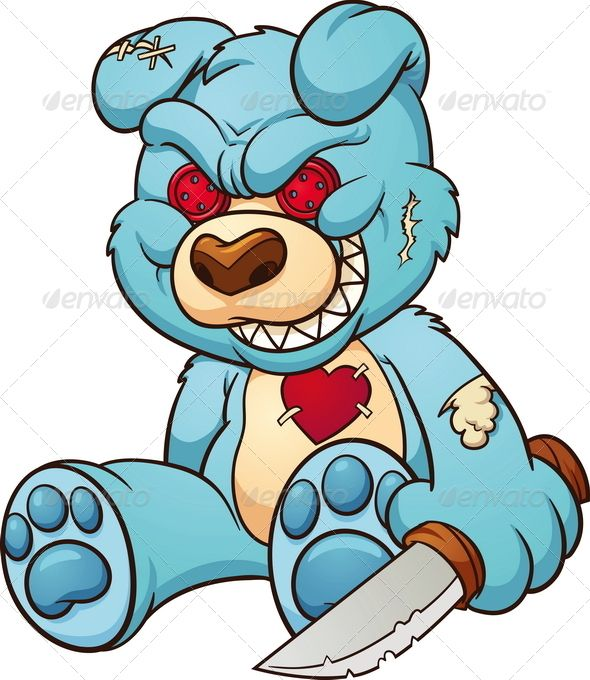 590x680 Collection Of Angry Teddy Bear Drawing High Quality, Free
