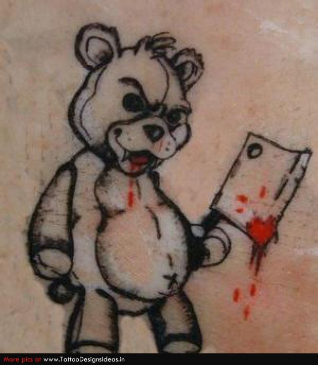 630x722 Collection Of Evil Teddy Bear Drawing High Quality, Free