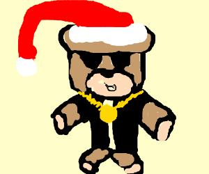 300x250 Gangsta Christmas Teddybear (Drawing By Coowez)
