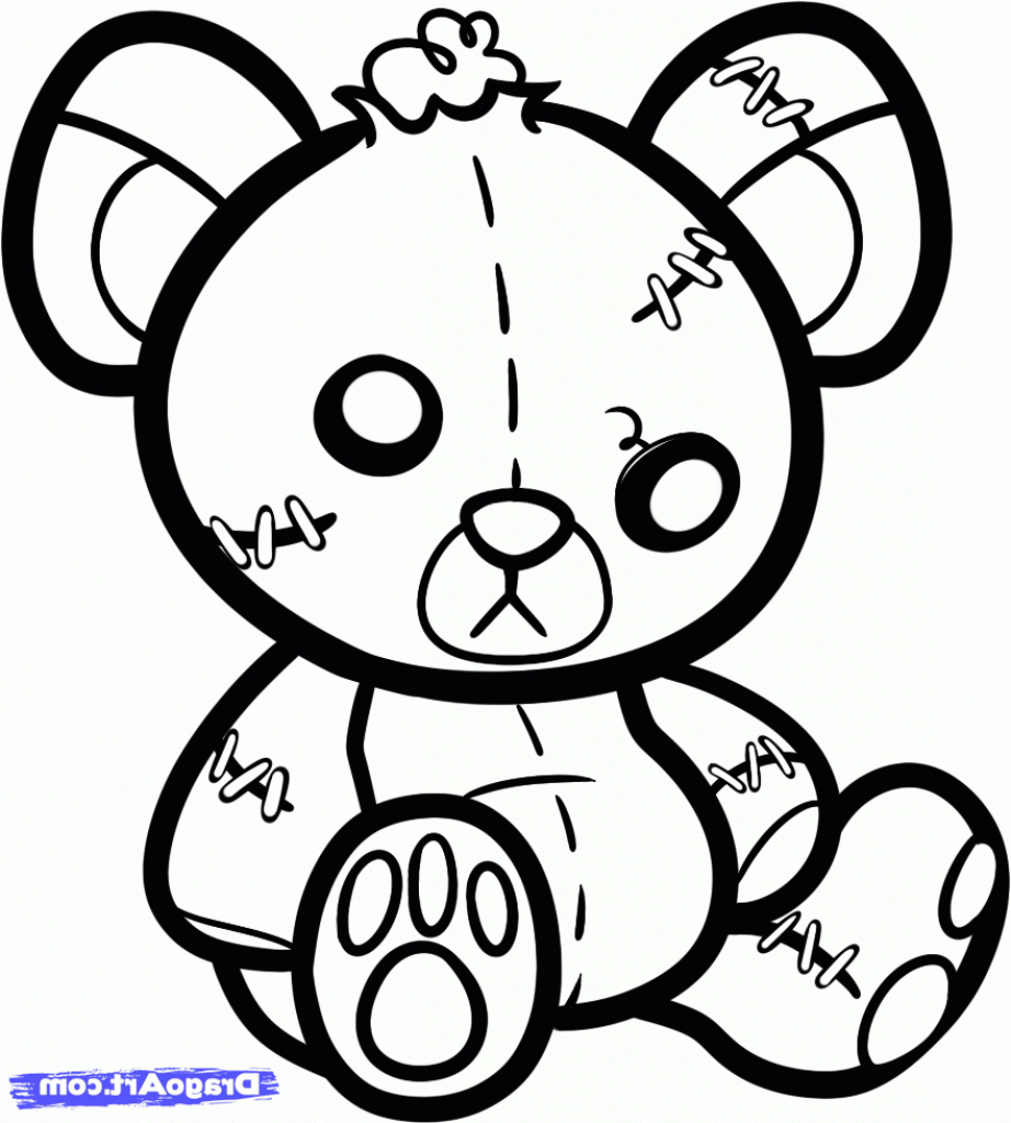 922x1024 Collection Of Stitched Teddy Bear Tattoo Design