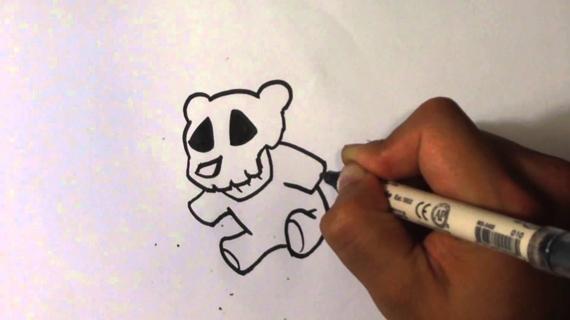 1920x1080 Teddy Bear Skull Drawing 1022 Movieweb